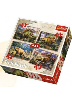 Puzzle 4w1 Dinozaury TREFL