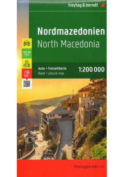 Mapa samochodowa - Macedonia północna, 1:200 000