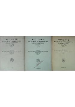 Rocznik polskiego towarzystwa geologicznego 3 zeszyty