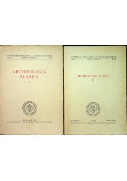 Archeologia Śląska tom I i II