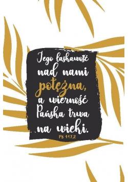 A Kartka składana - Jego łaskawość nad nami złoc.