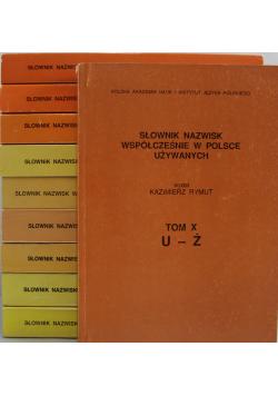 Słownik nazwisk współcześnie w Polsce używanych 10 tomów