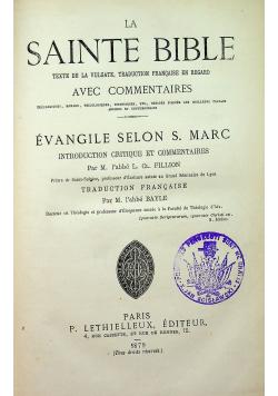 La Sainte Bible texte de la vulgate 1879r