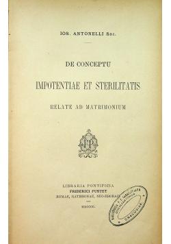 De conceptu imotentiale et sterilitas 1900 r