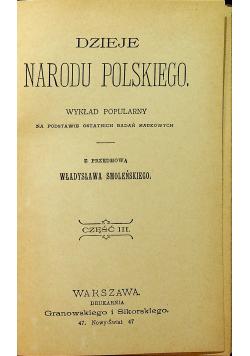 Dzieje Narodu Polskiego 1898 r cz III