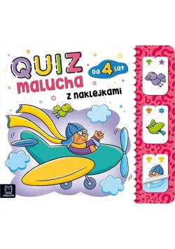 Quiz malucha z naklejkami od 4 lat