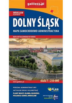 Mapa samoch.-administ. Dolny Śląsk 1:250 000