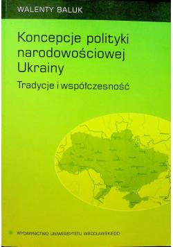 Koncepcje polityki narodowościowej Ukrainy Tradycje i współczesność