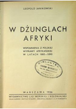 W dżunglach Afryki 1936 r.