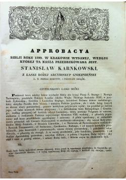 Biblia Księgi Starego Testamentu 1860 r.