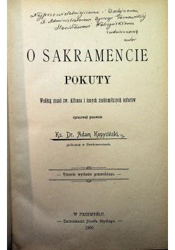 O sakramencie pokuty 1900 r.