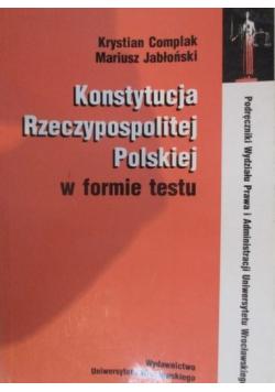 Konstytucja Rzeczypospolitej Polskiej w formie testu