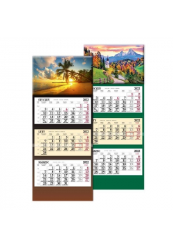 Kalendarz 2022 trójdzielny SB6 MIX SAPT