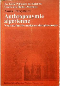 Anthroponymie algerienne