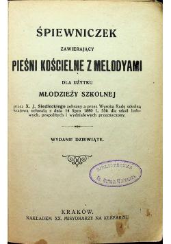 Śpiewniczek zawierający pieśn kościelne z melodyami 1920 r.