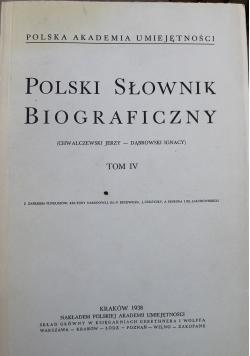 Polski słownik biograficzny tom IV