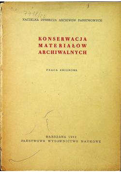 Konserwacja materiałów archiwalnych