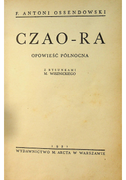 Czao  Ra Opowieść północna 1931 r
