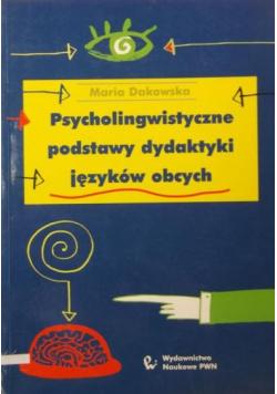 Psycholingwistyczne podstawy dydaktyki języków obcych