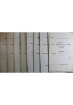 Słownik łaciny średniowiecznej w Polsce tom III zestaw 8 zeszytów