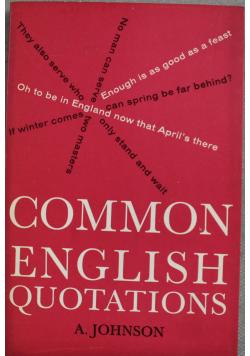 Common english quotations