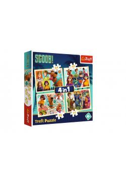 Puzzle 4w1 Scobby Doo i przyjaciele TREFL