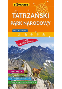 Mapa wodoodoprna - Tatrzański PN 1:30 000