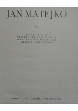 Jan Matejko szkice studia