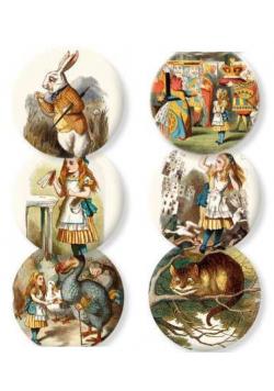 Lusterko ozdobne Alice in wonderland
