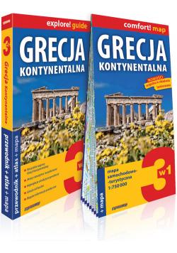 Grecja kontynentalna 3w1 przewodnik + atlas + mapa