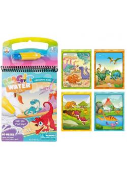 Książeczka z wodnym pisakiem - Dinozaury