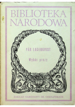 Lagerkvist Wybór prozy