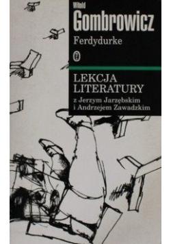 Ferdydurke Lekcja literatury