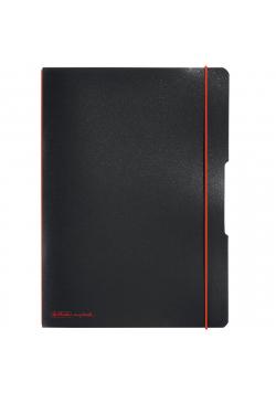 Notatnik A4/2x40K kratka+linia My.BookF czarny