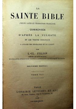 La Sainte Bible Tome VIII 1928 r.