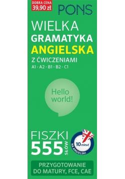 Fiszki 555 Wielka gramatyk angielska z ćwiczeniami A1 C1