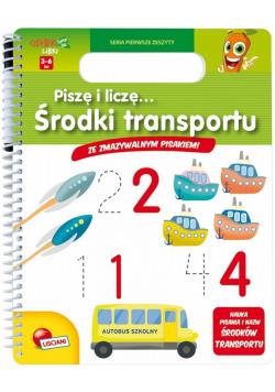 Książeczki Carotiny - Piszę i liczę Środki transp.