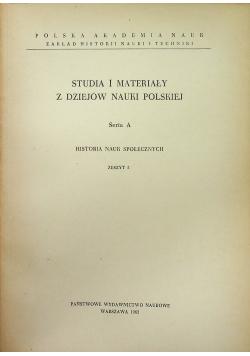 Studia i materiały z dziejów nauki polskiej seria A  zeszyt 5