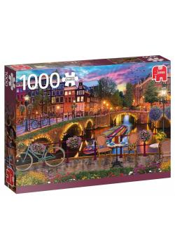 Puzzle 1000 PC Kanał w Amsterdamie G3
