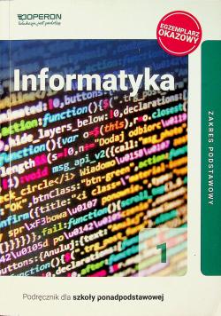 Informatyka podręcznik dla szkół ponadpodstawowych