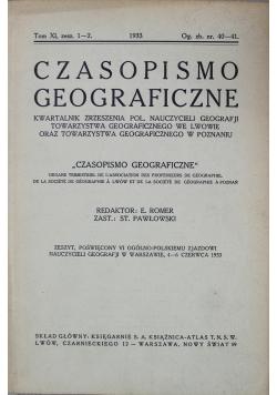 Czasopismo geograficzne tom XI zeszyt 1 i2