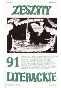 Zeszyty literackie 91 3/2005