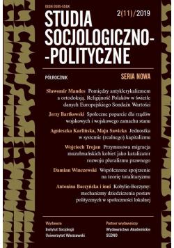 Studia Socjologiczno-Polityczne 2/11/2019
