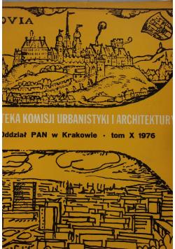 Teka komisji urbanistyki i architektury tom X