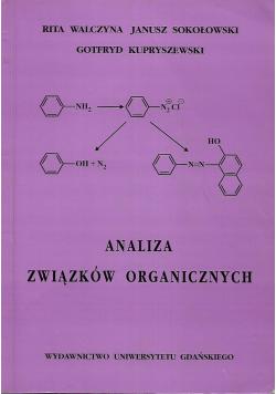Analiza związków organicznych