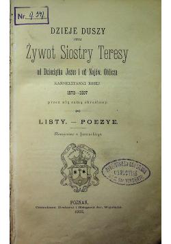 Dzieje Duszy czyli Żywot Siostry Teresy od Dzieciątka Jezus i od Najśw Oblicza Karmelitanki Boskiej 1902 r.