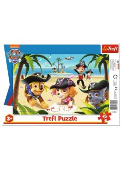 Puzzle ramkowe 15 Przyjaciele z Psiego Patr. TREFL