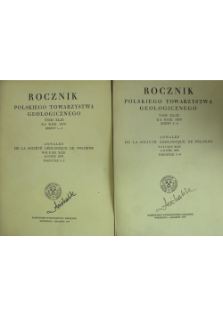 Rocznik Polskiego Towarzystwa Geologicznego Tom XLIX Zeszyt od 1 do 4