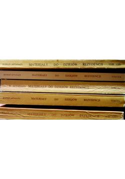 Materiały do dziejów rezydencji 5 tomów