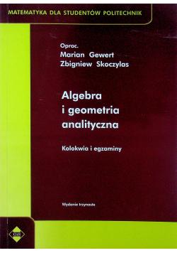 Algebra i geometria analityczna